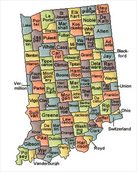 Indiana and Counties