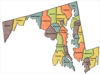 Maryland and Counties