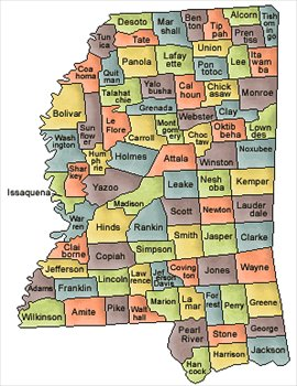Mississippi and Counties