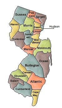 New Jersey and Counties